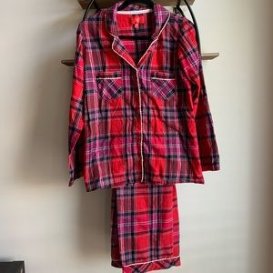 Victoria's Secret Red & Purple Plaid Pajama Set